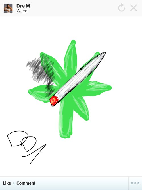 How to draw the weed sign
